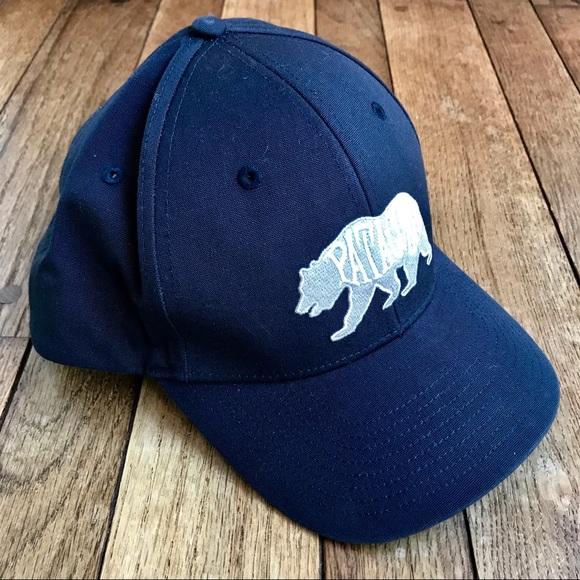 c13b8eec39b NWOT Patagonia Blue Snap Back Trucker Hat w Bear. M 5b1147cc12cd4adc47a34d45